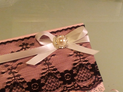 lace invitation tutorial