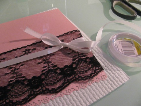 diy vintage lace invitation