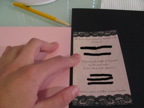 printed wedding invitation inserts