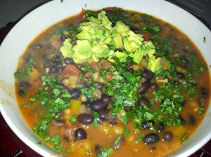 Spicy Wheat Berry and Black Bean Chili