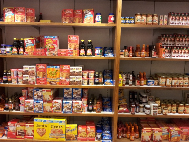 The selection of American foods at the David Jones Food Hall at the Melbourne CBD location.