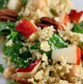 Quinoa, Apple, and Spinach Salad with Maple Vinaigrette