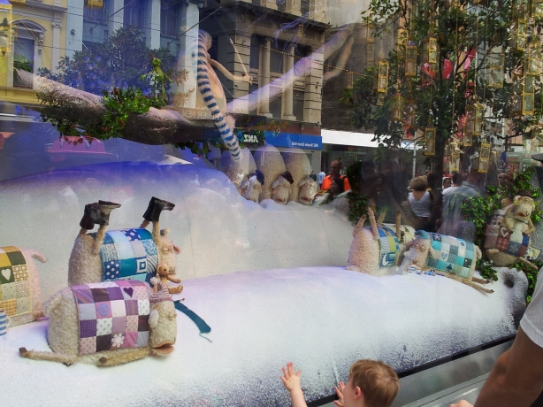 myer christmas window