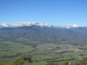 Mount Beauty is the town down below the mountain. I bet it's a really nice place to live!