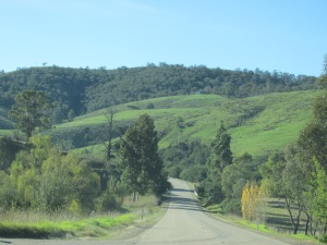 The landscapes along the Great Alpine Road seem ever changing, from quiet woodland to rocky outcroppings to rolling hills and farmland.